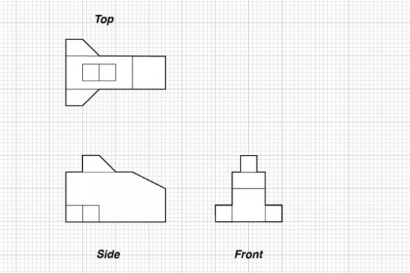 tutorial orthographic projections basic isometrics technical. Black Bedroom Furniture Sets. Home Design Ideas